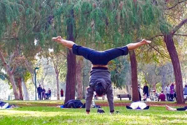 Yoga in Hayarkon Park Tel Aviv