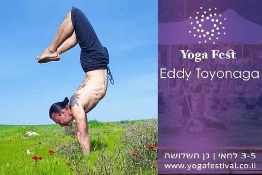 Eddy Toyonaga at the international yoga festival