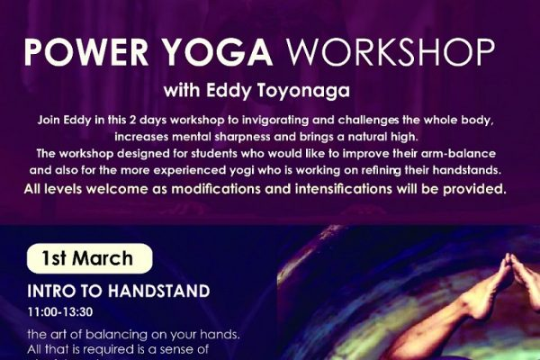 Power yoga workshop flyer